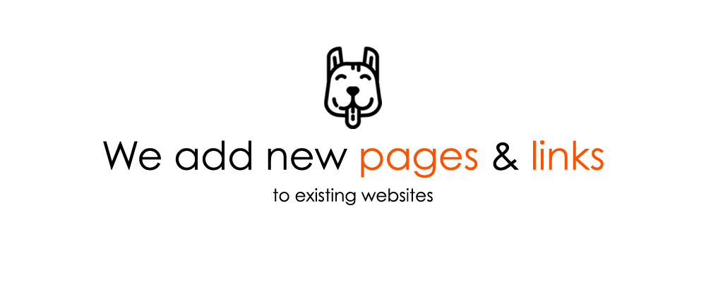 We add new pages and links to existing websites